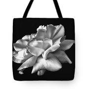 Rose Petals In Black And White Tote Bag