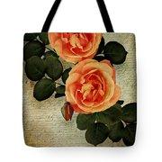 Rose Tinted Memories Tote Bag