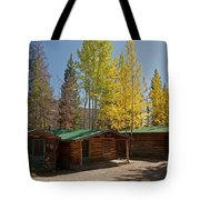 Rose Twin 1 And Twin 2 Cabins At The Holzwarth Historic Site Tote Bag