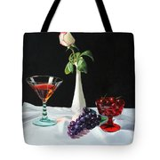 Rose Wine And Fruit Tote Bag