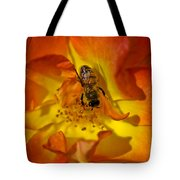 Rose With Bee Tote Bag