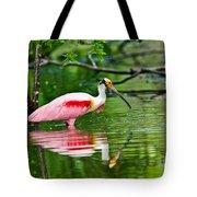 Roseate Spoonbill Wading Tote Bag