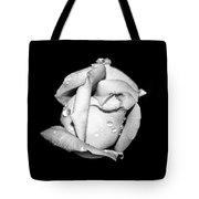 Rosebud In Black And White Tote Bag