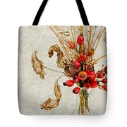Rosehips And Grasses Tote Bag