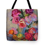 Roses And Apples Tote Bag