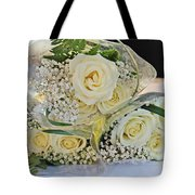 Roses And Baby Breath Tote Bag