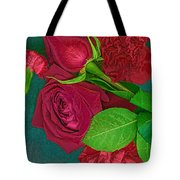 Roses And Carnations Tote Bag