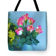 Roses And Flowers In A Vase Tote Bag