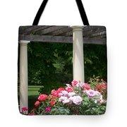 Roses And Pergola Tote Bag