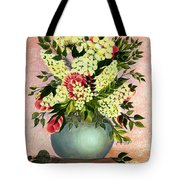 Roses And White Lilacs Tote Bag