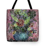 Roses And White Lilacs Digital Painting Tote Bag