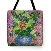 Roses And White Lilacs Lacy Bouquet Digital Painting Tote Bag