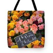 Roses At Flower Market Tote Bag