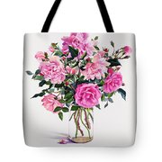 Roses In A Glass Jar  Tote Bag by Christopher Ryland