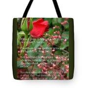 Roses In Heaven Tote Bag