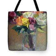 Roses In North Light Tote Bag