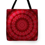 Roses Kaleidoscope Under Glass 13 Tote Bag