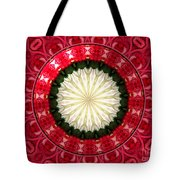 Roses Kaleidoscope Under Glass 19 Tote Bag