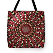 Roses Kaleidoscope Under Glass 21 Tote Bag