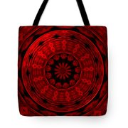 Roses Kaleidoscope Under Glass 22 Tote Bag
