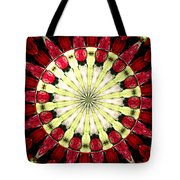 Roses Kaleidoscope Under Glass 23 Tote Bag