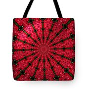 Roses Kaleidoscope Under Glass 24 Tote Bag