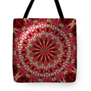 Roses Kaleidoscope Under Glass 30 Tote Bag