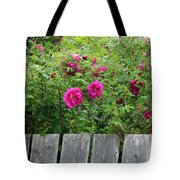 Roses On A Fence Tote Bag