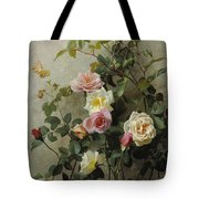 Roses On A Wall Tote Bag