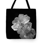 Roses On Black Tote Bag