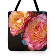 Roses On Dark Background Tote Bag
