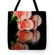 Roses On Glass Tote Bag