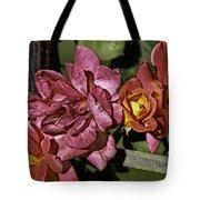 Roses On Trellis Tote Bag