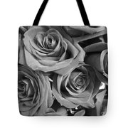 Roses On Your Wall Black And White  Tote Bag