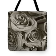 Roses On Your Wall Sepia Tote Bag