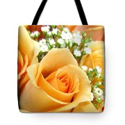 Roses Orange Blossoms Tote Bag