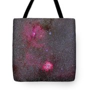 Rosette And Cone Nebula Area Tote Bag