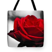 Rosey Red Tote Bag by Kaye Menner
