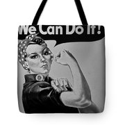 Rosie In Black And White Tote Bag