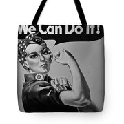 Rosie In Black And White1 Tote Bag
