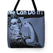 Rosie In Cyan Tote Bag