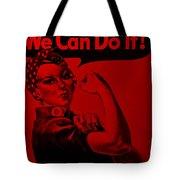 Rosie In Red Tote Bag
