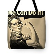 Rosie In Sepia Tote Bag