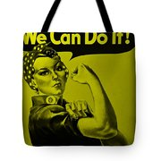 Rosie In Yellow Tote Bag