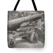 Ross Castle Cannon Tote Bag
