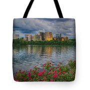 Rosslyn Virginia Sunset From Across The Potomac River Tote Bag