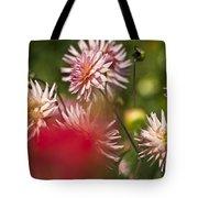 Rosy Dahlias Tote Bag