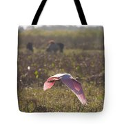Rosy In The Field Tote Bag