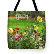 Rosy View - Beautiful Rose Garden Of The Huntington Library. Tote Bag
