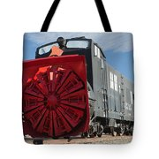Rotary Snow Thrower 99201 In The Colorado Railroad Museum Tote Bag